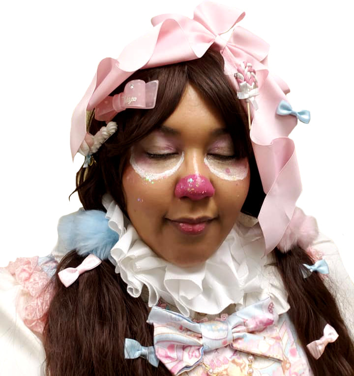 sweet lolita, lolita, lolita fashion, maxicimam, chocolate coty bear sweets wonderland, amazon, plus size, clown, halloween, costume, little bow bakery, magicalgirlme, bb&b deco