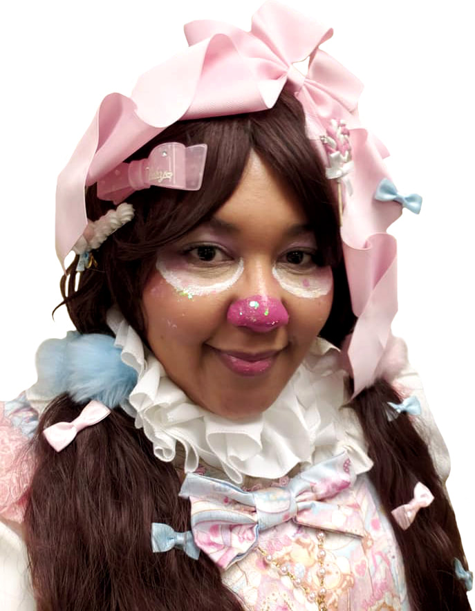 sweet lolita, lolita, lolita fashion, maxicimam, chocolate coty bear sweets wonderland, amazon, plus size, clown, halloween, costume, little bow bakery, magicalgirlme