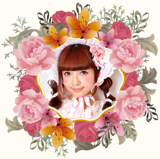 Misako Aoki, floral frame, Lolita, lolita fashion, baby the stars shine bright